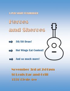 The Heroes and Sheroes Pub Night + Silent Auction