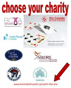 Kin Club Catch The Ace - Choose Your Charity
